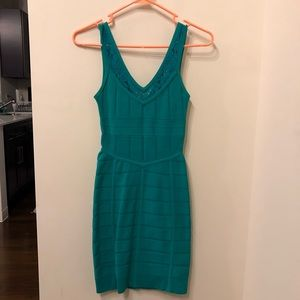 French Connection Teal Bandage Dress